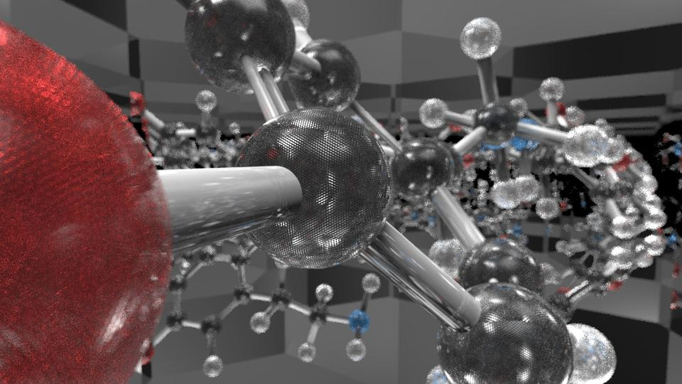 Experiments with Mirrors and Dopamine.  Credit:  Ollie Keattch 2013.